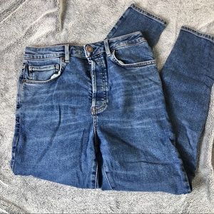 F21 blue concealed button fly high waisted Jeans
